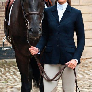 Winston Equestrian Hunter Show Coat 40 R Navy NEW
